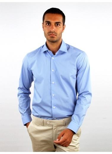 Dufy Açık Lıla Büyük Beden Klasık Erkek Gömlek - Battal Mavi